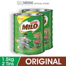 NESTL MILO ACTIV-GO CHOCOLATE MALT POWDER Tin 1.5kg x2 tins