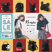 Gracegift-Disney Mickey Family Bags/Handbags/Shoulder Bags/Backpacks/Pouch/Women Bags