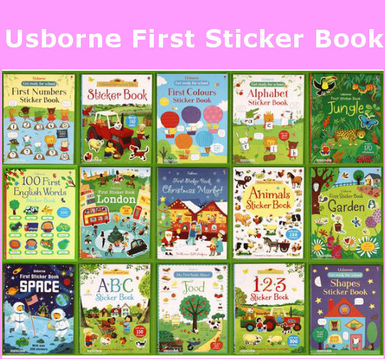Usborne Book First sticker book Children activity book educational book Pre school learn and play Deals for only S$9.9 instead of S$0
