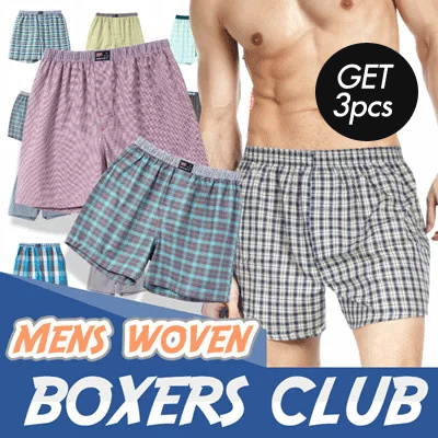 [Get 3pcs]YOUNG CLUB Mens Woven Boxer // Celana // celana dalam // celana boxer // boxer // boxer pria Deals for only Rp109.000 instead of Rp109.000