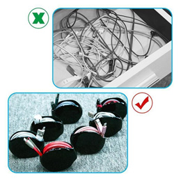 Automatic Recoil Cord Cable Wire Organizer / No Messy Cables / Earphones ★Free Delivery★