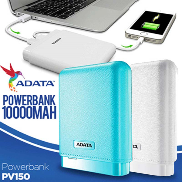 Adata Powerbank PV150 | Real Capacity 10000maH Deals for only Rp175.000 instead of Rp175.000