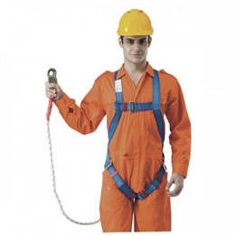FULL BODY HARNESS WITH BUILT-IN LANYARD AND SNAP HOOK