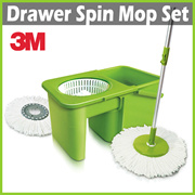 [+] 3M SCOTCH BRITE Drawer Spin Mop + 2 Mop Heads ★ Innovative Space Saving