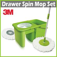 [+] 3M SCOTCH BRITE Drawer Spin Mop + 2 Mop Heads ★ Innovative Space Saving