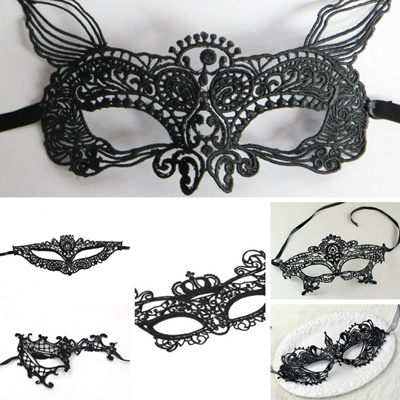 Thmyo Couples Gorgeous Masquerade Masks Set,Half Face Halloween Party Costumes Mask 2 Pieces