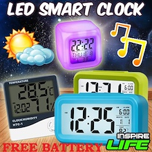 Smart Digital Alarm Clock / Kitchen Timer w Big Screen LED Light Sensor Control ★Many Designs★
