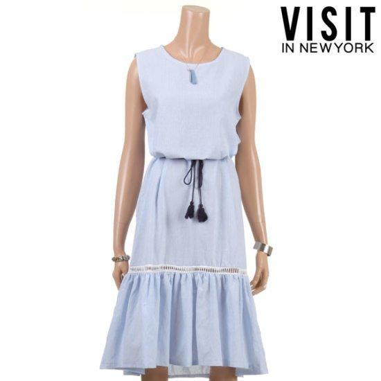 ・ビジット・インニューヨークSTツインペプラムナッシーワンピースVTFOP29 面ワンピース/ 韓国ファッション