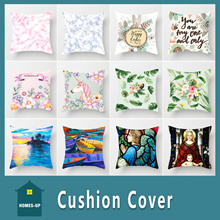 📣Cushion Cover📣 ★ Exclusive Design★Two Side Print★House Warming Gift★Flannel Material ★Home Decora