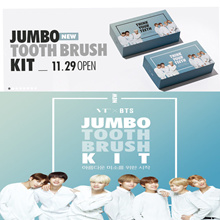 VT X BTS Think your teeth Jumbo kit [Toothbrush + toothpaste photocard 7EA] +GIFT