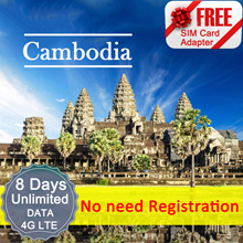 ◆ ICC◆【Cambodia Sim Card· 8 Days】❤ Unlimited data + call ( NEED TOP-UP)❤