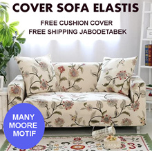 Sofa Cover Elastis Universal Cover / Free Sarung bantal sofa 1 pcs