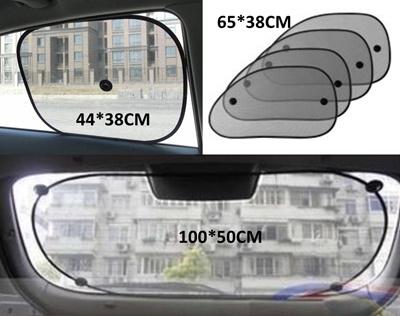 6x Light shield For Windshield /&Side /&Rear Window Aluminum foil Netted Gauzed