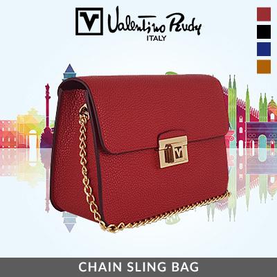 168f6d3daff Qoo10 - Valentino Rudy Chain Sling Bag : Bag & Wallet