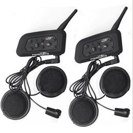 207e1d517a11 New 2PCS 1200M Motorcycle Bluetooth Helmet Intercom for 6 riders BT  Wireless intercomunicador Interphone Headsets MP3