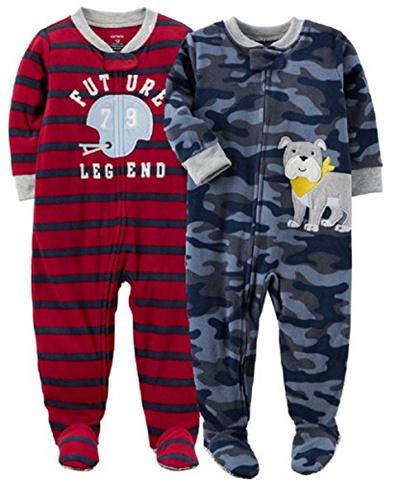 8efcf1cd9be3 Qoo10 - Carters Baby Boys 2-Pack Fleece Pajamas   Baby   Maternity