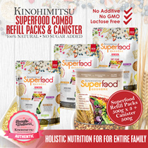 Kinohimitsu Superfood Refill Pack 500g x 3 - FREE Superfood Canister 500g x 1