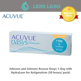 Johnson and Johnson Acuvue Oasys 1-Day with HydraLuxe for Astigmatism (30pcs/box) PWR 0.00 ~ -8.00