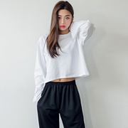 [로코식스] 링벨 컬러 크롭 티셔츠