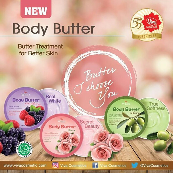 Viva White Body Butter 200g | Rose / Olive / Mulberry Deals for only Rp39.500 instead of Rp39.500