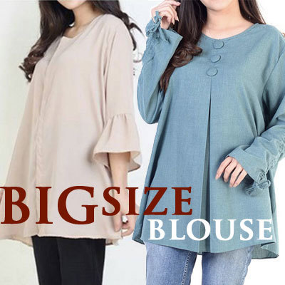 [15/09] Women Big Size Blouse Deals for only Rp72.000 instead of Rp72.000