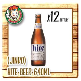 [HITE JINRO] Hite Beer 640ml - Alc4.3% (640ml X 12) $5.50 Per Btl
