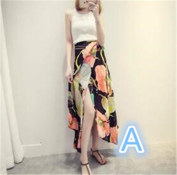 レディーススカート ビーチロングスカート 砂浜 ボヘミア風 プリント ファッション ハイセンス 着心地いい おしゃれ 夏 レディーススカート
