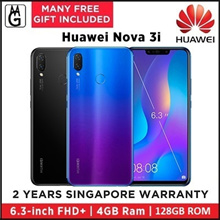 Huawei  Nova 3i  4GB [ READY STOCKS! Collect Same Day | 128GB (Black/Purple) Local Warranty