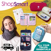 Travel Essentials [ShopSmart] Accessories Travel Organiser Bag Organizer Pouch Luggage Pillow Belt