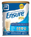 -Ensure with FOS Vanilla 850g - [2 Tins in one shipping rate] - Free Glass Container for every spend Rm160 and above