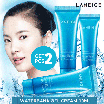 Buy 1 Get 1_LANEIGE Waterbank Gel Cream 10 ml Deals for only Rp55.000 instead of Rp55.000