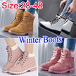 winter boots  Women Fashion Boots Ladies Winter shoes Leather Shoes Waterproof Non-slip