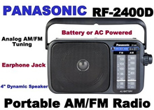Panasonic RF-2400D Portable AM/FM Radio