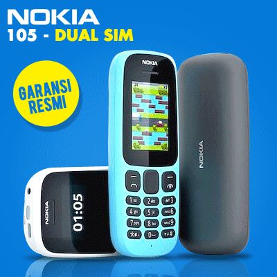 NOKIA 105 DUAL SIM 2017 GARANSI RESMI Deals for only Rp245.000 instead of Rp245.000