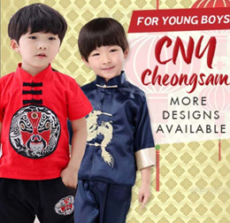 👦 Children CNY Cheongsam Top Pants Boy Kids Traditional Clothes Racial Harmony Day Chinese New Year