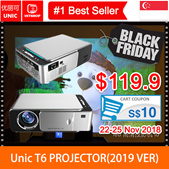 💖READY STOCK💖[T6 Projector]2018 Newest UNIC T6  720P Portable Home Projector