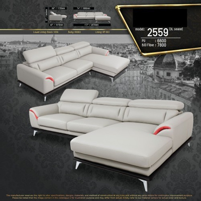 Portland L-Shape Fully Leather Sofa Lounge Chair Living Hall Sofa Chair  With 10 Years Warranty