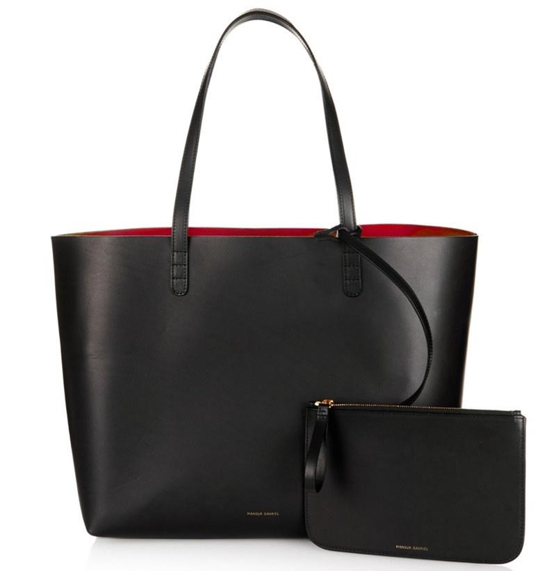 797377d0a2af actual size. prev next. Mansur Gavriel women shopper large tote bag black  shoulder hand bag with small mini purse designer