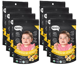 [NOSH] Nosh Smoothie Snaps 100% Fruit Puree Freeze-Dried Toddler Snack Bites, 1 Ounce (Pack of 8)