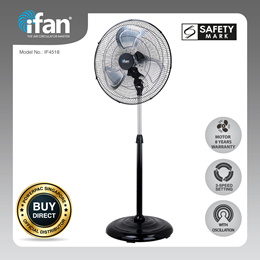 iFan-PowerPac 18 Inch (Power Fan)High Velocity Fan/Industrial Stand Fan Air Circulator 120W (IF4518)