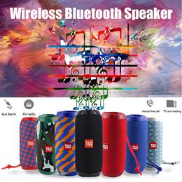 TG117 Bluetooth Outdoor Speaker Waterproof Portable Wireless Column Loudspeaker Box Support TF Card