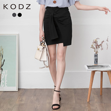 KODZ - Asymmetrical Ribbon-Tie Mini Skirt-190518