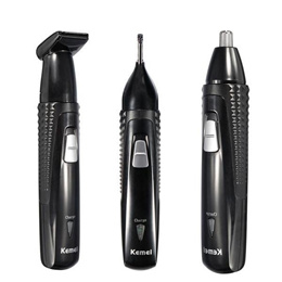 KEMEI 3 in 1 Electric Rechargeable Nose Hair Ear Trimmer Shaver Removal