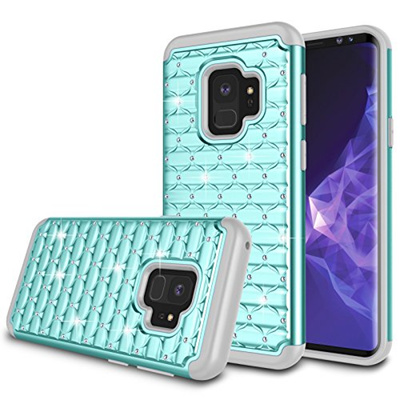 new concept a2c4a 61a32 (Zectoo) Galaxy S9 Case, Samsung S9 Girls Case, Zectoo Dual Layer Heavy  Duty Hybrid Rubber Silico...