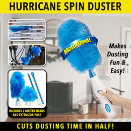 (PROMO) NEW Latest Hurricane Spin Duster / Incl 2 Duster Heads! / Battery N USB model