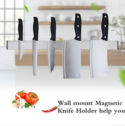 Home Kitchen 3m Stainless Steel Magnetic Knife Holder Wall Mount Block For Knife Storage