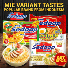Get 5 pcs - Mie Variant tastes - Popular Brand from Indonesia