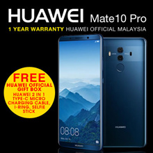 (Buy at RM 2600 with RM 400 coupon discount) HUAWEI Mate 10 Pro 6GB/128GB -- Free Official Huawei Gift Box (Huawei Malaysia Warranty)