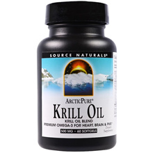 Source Naturals, ArcticPure, Krill Oil, 500 mg, 60 Softgels