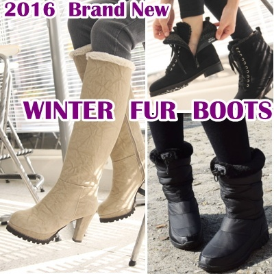 c20f16605c7 [TPSL][TPSL]★ Korea Mega Hit ★ Womens Winter Boots Shoes Fur Snow fashion  walker waterproof shoe Padding casual sneakers wedge heels long middle ...